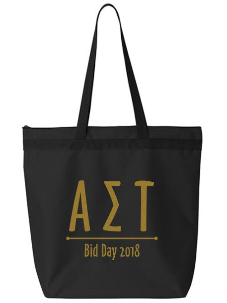 Alpha Sigma Tau Oz Letters Event Tote Bag