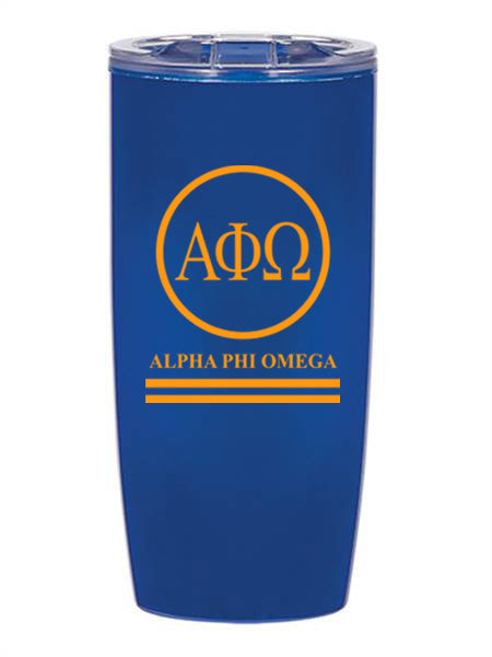 Alpha Phi Omega Circle Stripes 19 oz Everest Tumbler