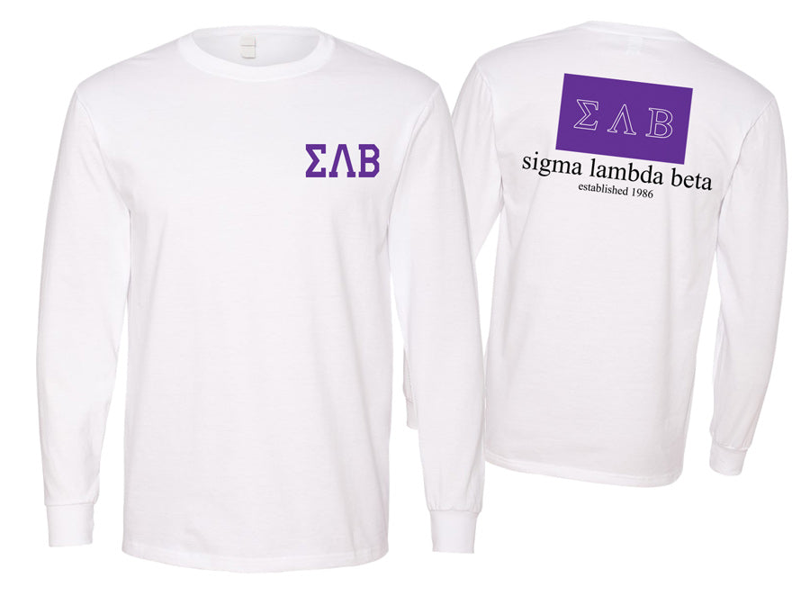 Sigma Lambda Beta Long Sleeve Flag Tee