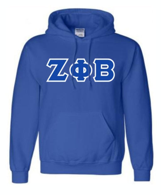 Zeta Phi Beta Unisex Hooded Sweatshirt with Sewn-On Letters