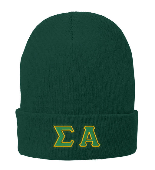 Sigma Alpha Lettered Knit Cap