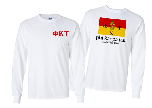 Phi Kappa Tau Long Sleeve Flag Tee