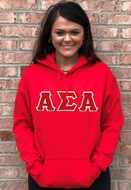 Alpha Sigma Alpha Lettered Hoodie