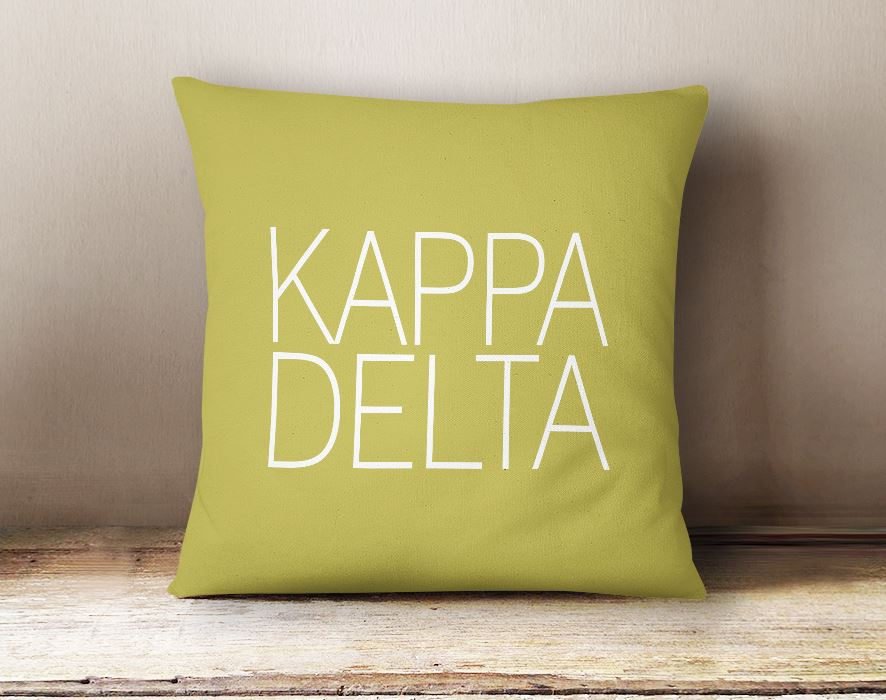 Kappa Delta Simple Text Throw Pillow