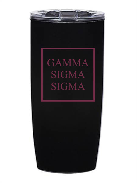 Gamma Sigma Sigma Box Stacked 19 oz Everest Tumbler