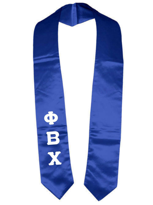 Phi Beta Chi Classic Colors Graduation Stole