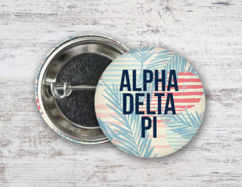 Alpha Delta Pi Paradise Found Button