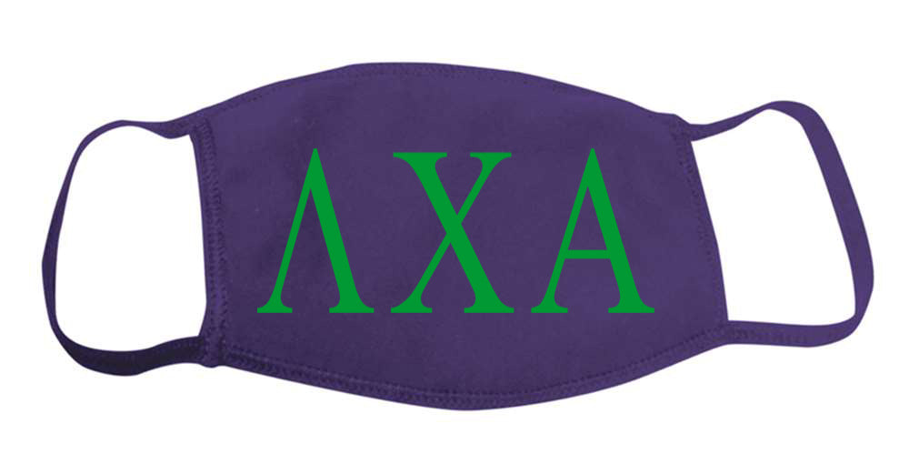 Lambda Chi Alpha Face Mask With Big Greek Letters