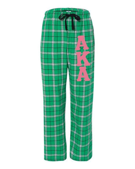 Alpha Kappa Alpha Pajama Pants with Sewn-On Letters