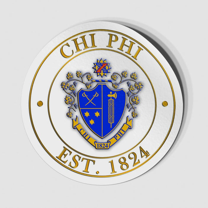 Chi Phi Circle Crest Decal