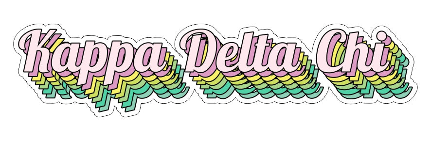 Kappa Delta Chi New Hip Stepped Sticker