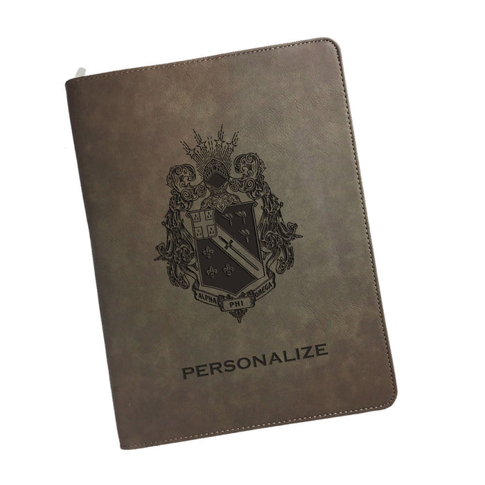 Alpha Phi Omega Leatherette Portfolio with Notepad
