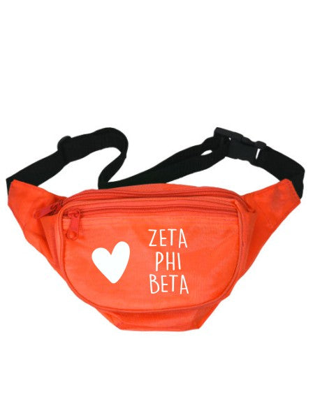 Zeta Phi Beta Heart Fanny Pack