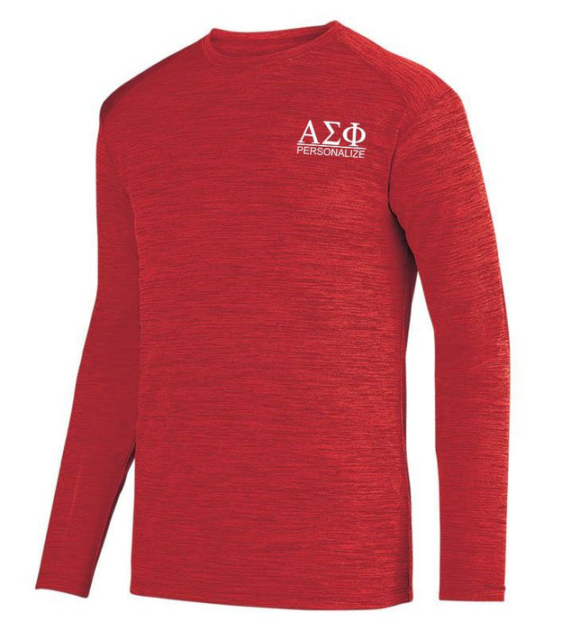 Alpha Sigma Phi $20 World Famous Dry Fit Tonal Long Sleeve Tee