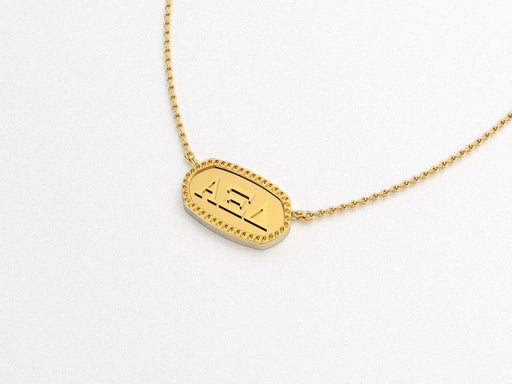 Alpha Xi Delta Greek Necklace