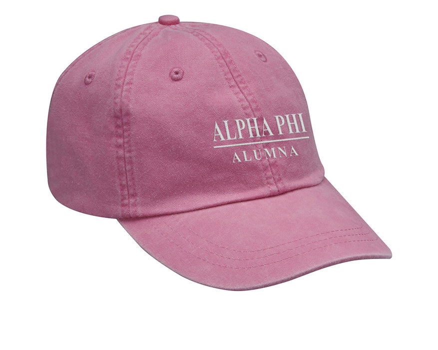 Alpha Phi Line Year Embroidered Hat