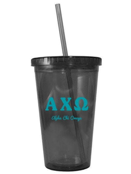 Letters Layered 16 oz Acrylic Tumbler