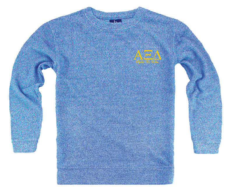 Alpha Xi Delta Lettered Cozy Sweater