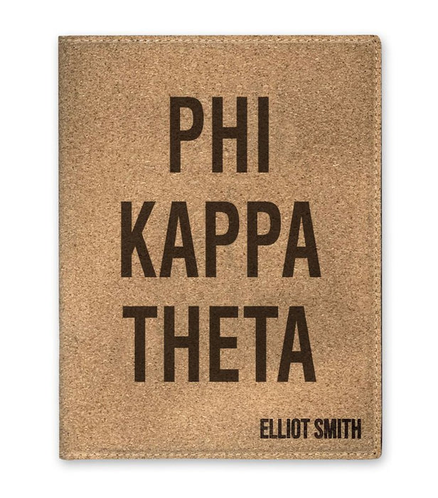 Phi Kappa Theta Cork Portfolio with Notepad