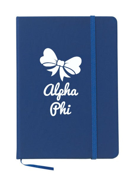 Alpha Phi Bow Notebook