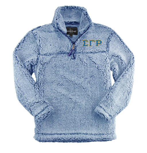 Sigma Gamma Rho Embroidered Sherpa Quarter Zip Pullover