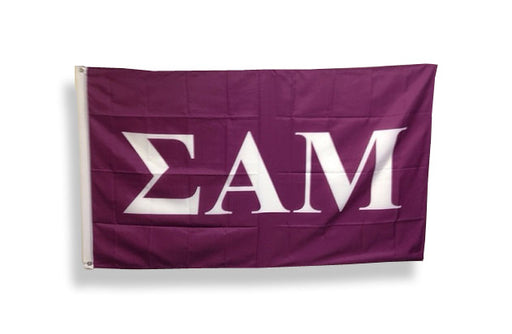 Sigma Alpha Mu Big Letter Flag