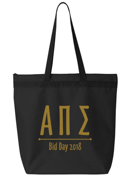 Alpha Pi Sigma Oz Letters Event Tote Bag
