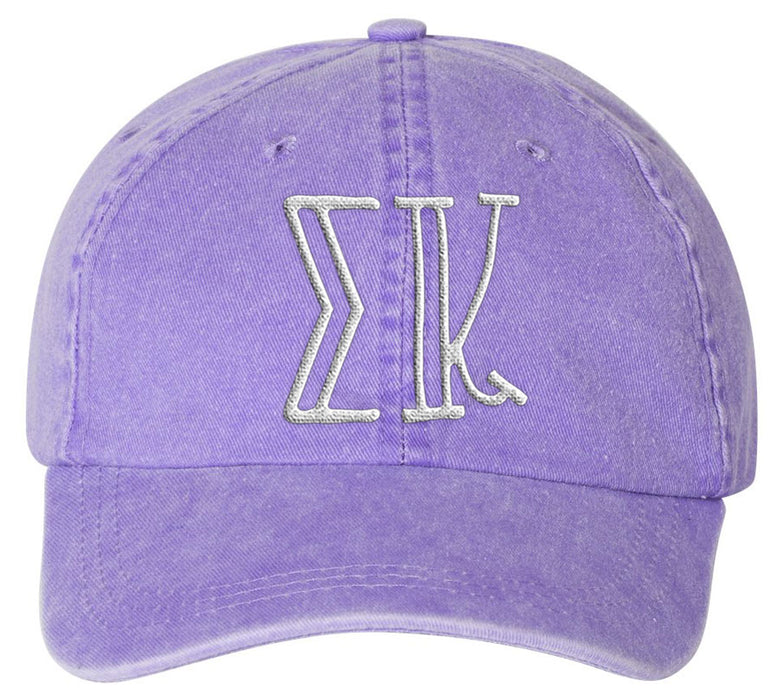 Sigma Kappa Sorority Greek Carson Embroidered Hat