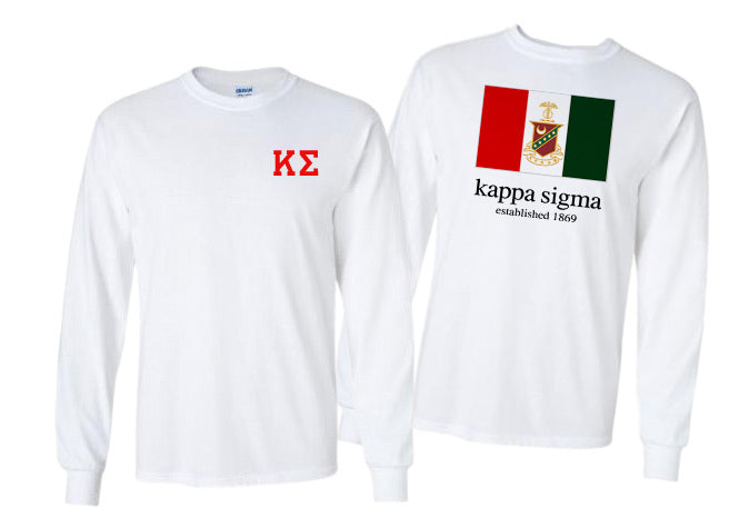 Kappa Sigma Long Sleeve Flag Tee