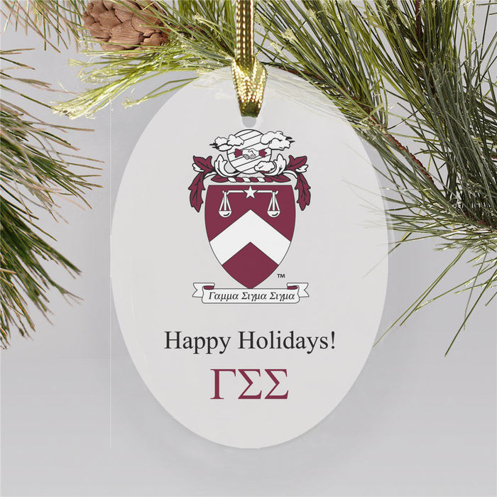 Gamma Sigma Sigma Color Crest Ornament