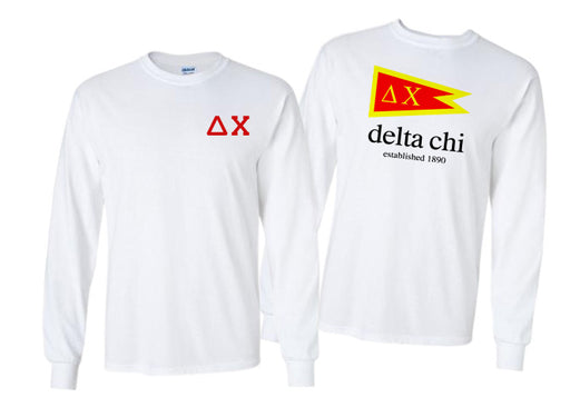 Delta Chi Long Sleeve Flag Tee
