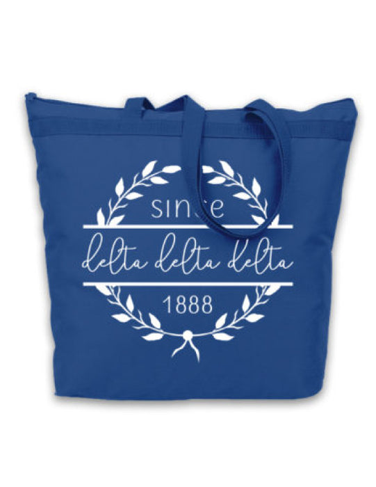 Delta Delta Delta Since Established Tote