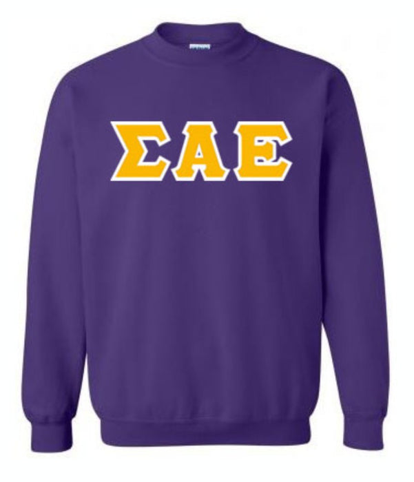 Sigma Alpha Epsilon Classic Colors Sewn-On Letter Crewneck
