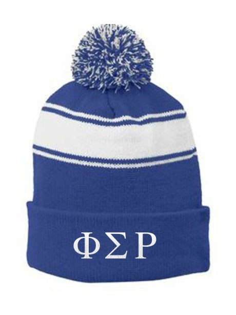 Phi Sigma Rho Embroidered Pom Pom Beanie