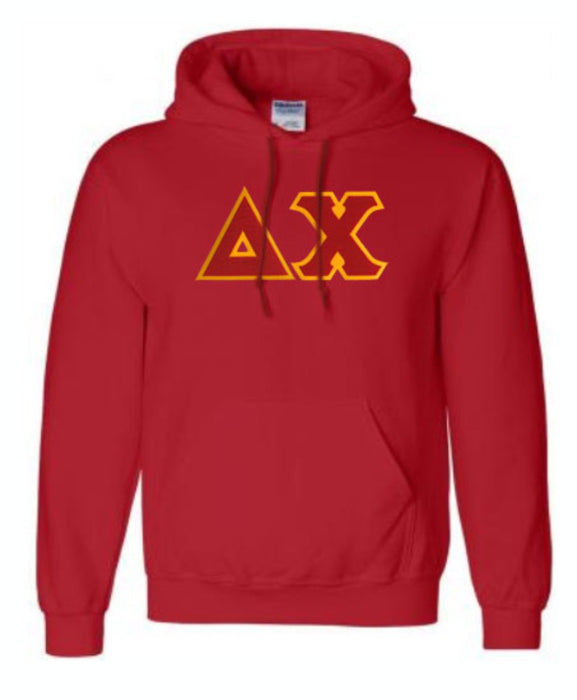 Delta Chi Lettered Hoodie