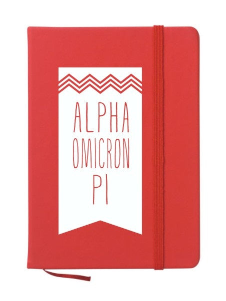 Alpha Omicron Pi Chevron Notebook