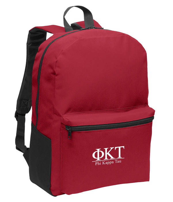 Phi Kappa Tau Collegiate Embroidered Backpack