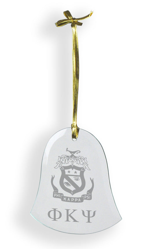 Phi Kappa Psi Glass Bell Ornament