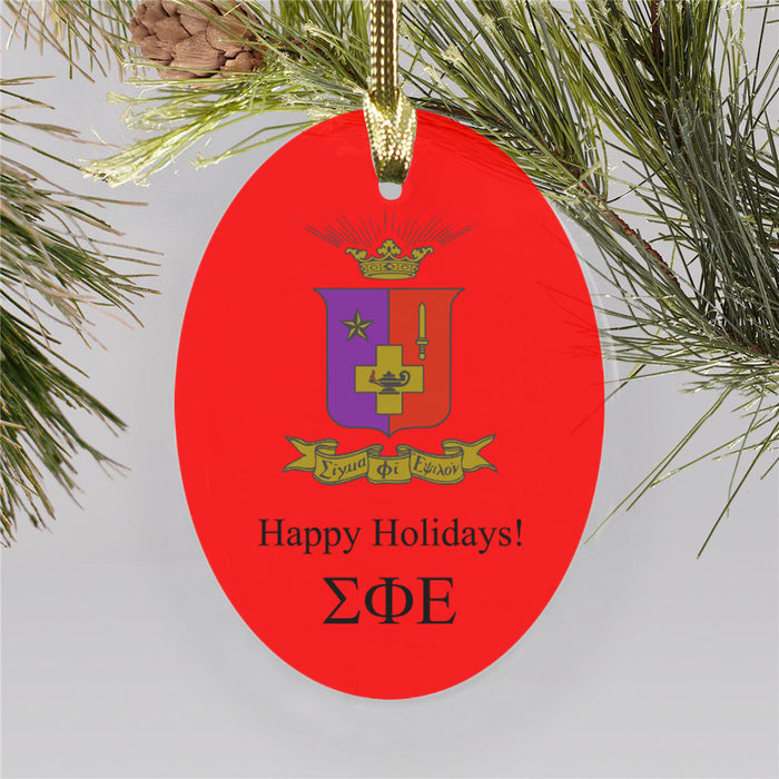 Sigma Phi Epsilon Color Crest Ornament