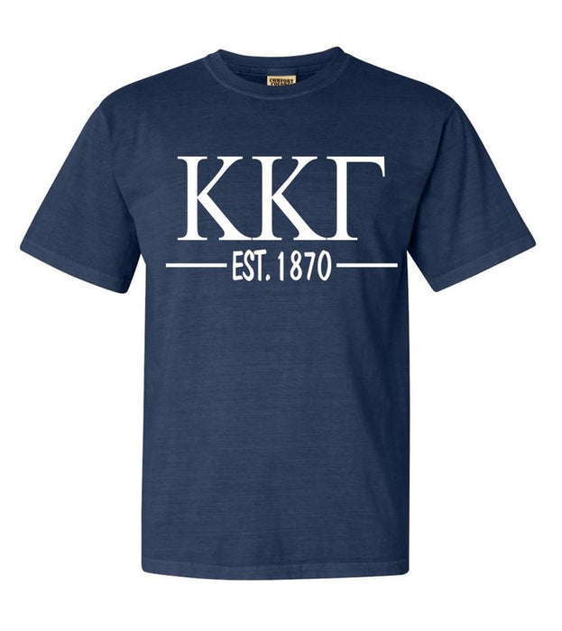 Kappa Kappa Gamma Comfort Colors Established Sorority T-Shirt
