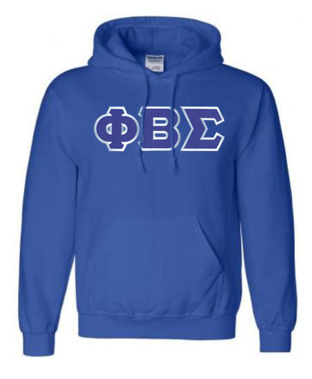 Phi Beta Sigma Lettered Hoodie