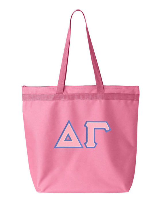 Delta Gamma Greek Lettered Game Day Tote