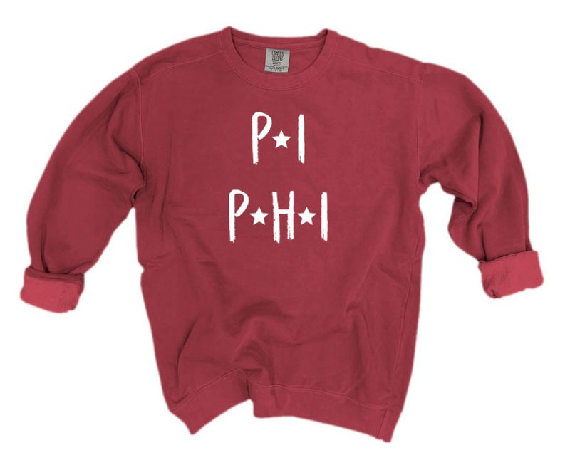 Pi Beta Phi Comfort Colors Starry Nickname Sorority Sweatshirt
