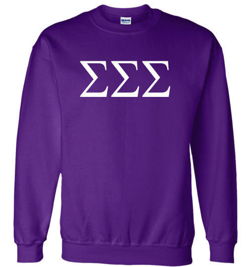 Sigma Sigma Sigma World Famous Lettered Crewneck Sweatshirt