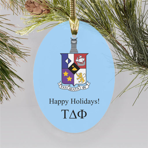 Tau Delta Phi Color Crest Ornament
