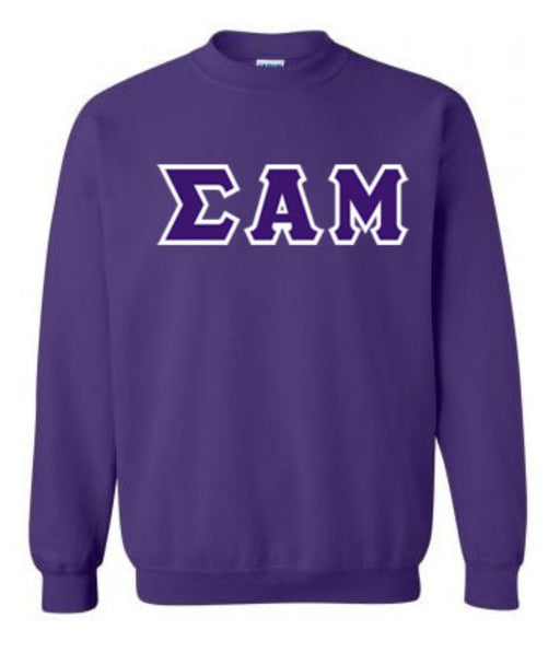 Sigma Alpha Mu Classic Colors Sewn-On Letter Crewneck