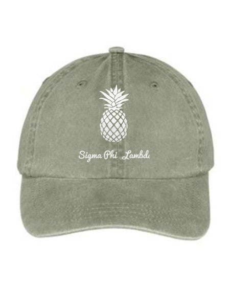 Sigma Phi Lambda Pineapple Embroidered Hat