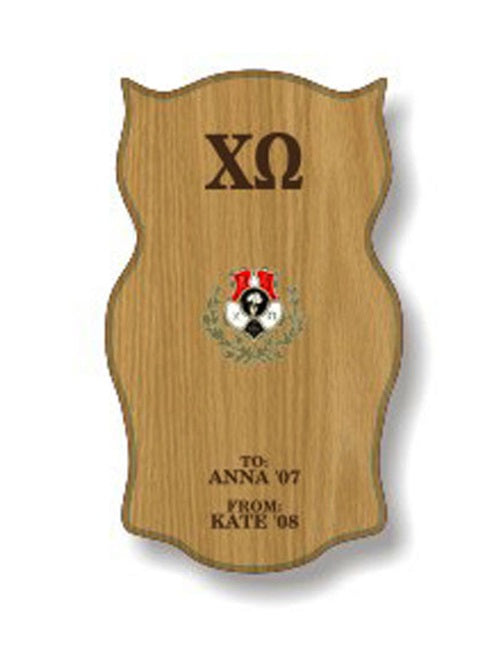Chi Omega Sorority Plaque