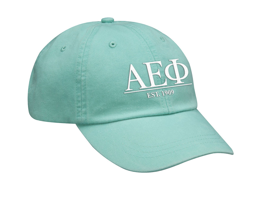 Alpha Epsilon Phi Letters Year Embroidered Hat