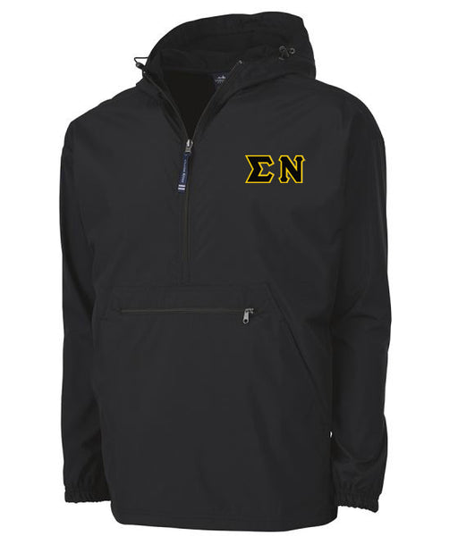 Sigma Nu Embroidered Pack and Go Pullover